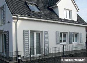 Fenster-Klappladen AJW-Zierladen-7012-Basaltgrau