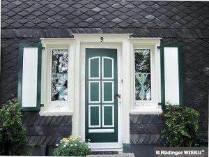 Fenster-Klappladen zweifarbig